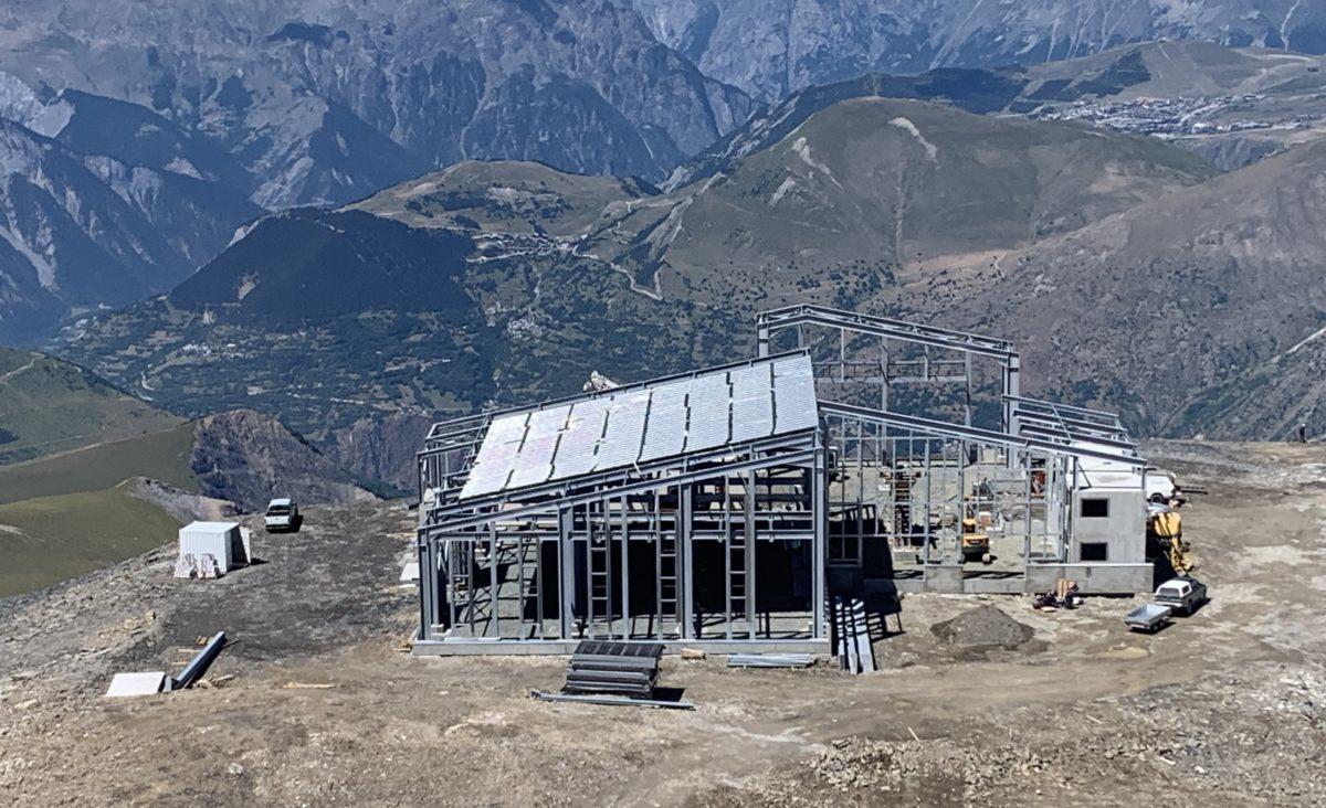 ossature métallique en montagne